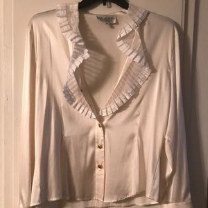 At. John authentic silk and ruffle blouse